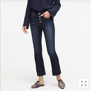 J Crew Demi Boot Crop Jean Dark Worn Wash 29